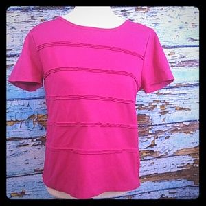 J Crew Pink Short Sleeve Top Size Med Style# 07130